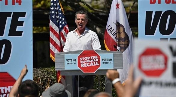 حاكم ولاية كاليفورنيا الديموقراطي غافين نيوسوم (أرشيف)
