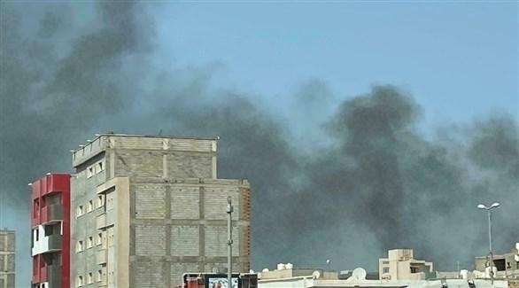سحابة دخان عقب اشتباكات في طرابلس (أرشيف)