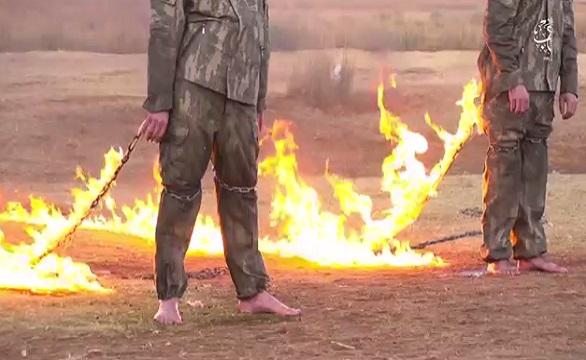 داعش يحرق جنديين تركيين في مدينة الباب السورية  1