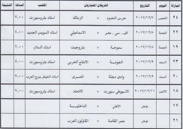 كأس مصر الجدول الكامل لدور الـ16