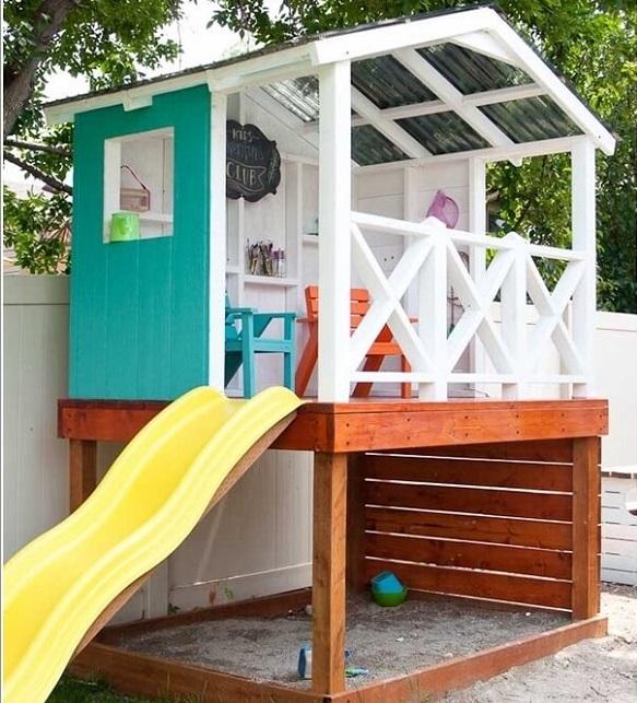 الحديقة المنزلية الصغيرة صور: 9 أفكار لبيت لهو للأطفال في الحديقة المنزلية