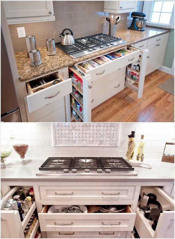 لتخزين الأواني وأدوات الطبخ بالصور: 10 نصائح لاستغلال جميع المساحات في المطبخ 1